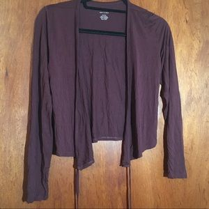 American Eagle Soft and Sexy Crop Wrap Top